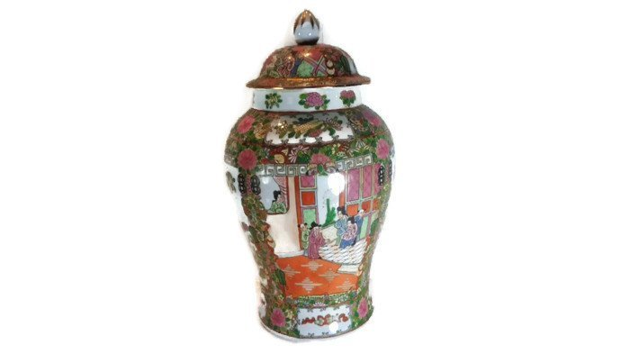 Chinese Porcelain Famille Rose Medallion Vase.