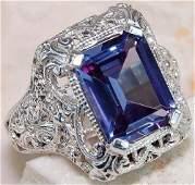 Amethyst CZ Gemstone 925 Silver:Size 7