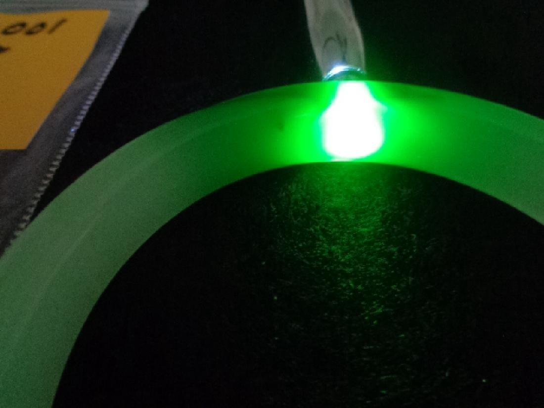 Natural Green Jade Bangle Bracelet - 2