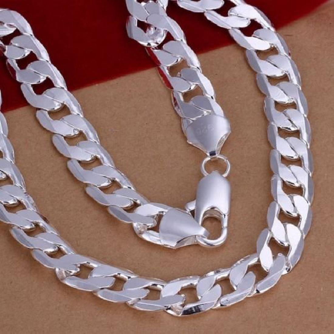 925 Silver 12MM solid men Chain