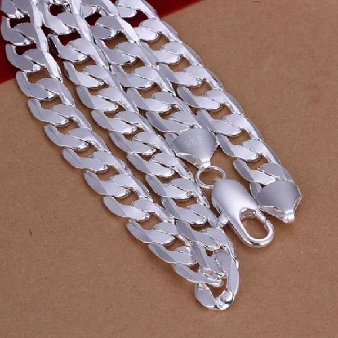 925 Silver 12MM solid men Chain - 2