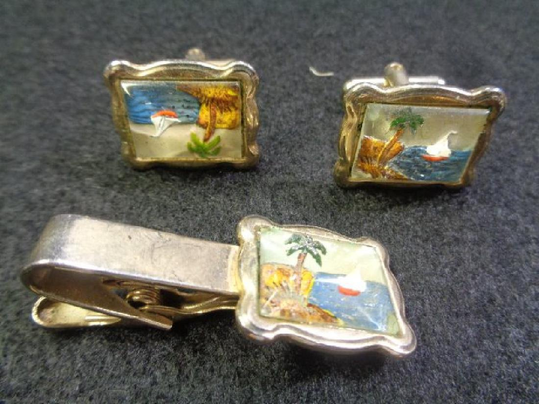 Lot of 45 Vintage Cuff Links, Tie and Clasp - 2