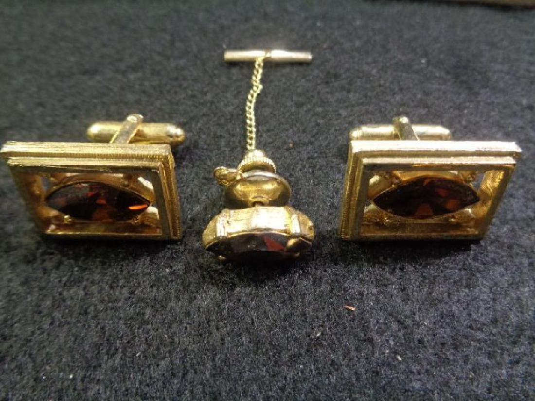 Lot of 45 Vintage Cuff Links, Tie and Clasp - 3