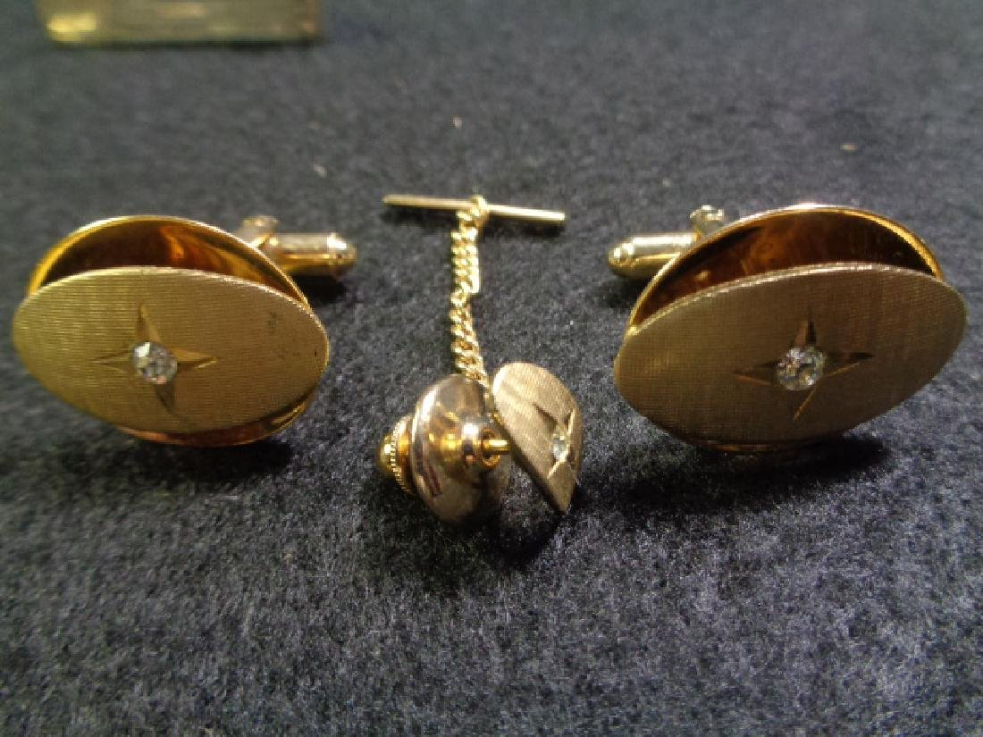 Lot of 45 Vintage Cuff Links, Tie and Clasp - 6