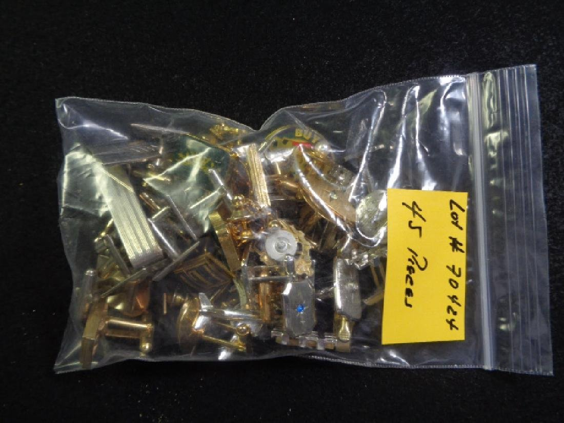 Lot of 45 Vintage Cuff Links, Tie and Clasp - 8