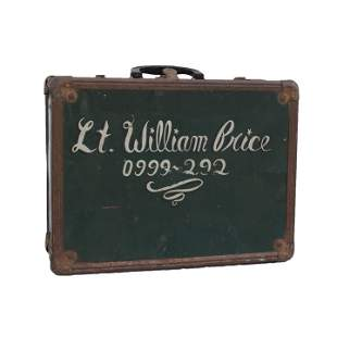Green Metal Suitcase. Inscribed �Lt. Williams