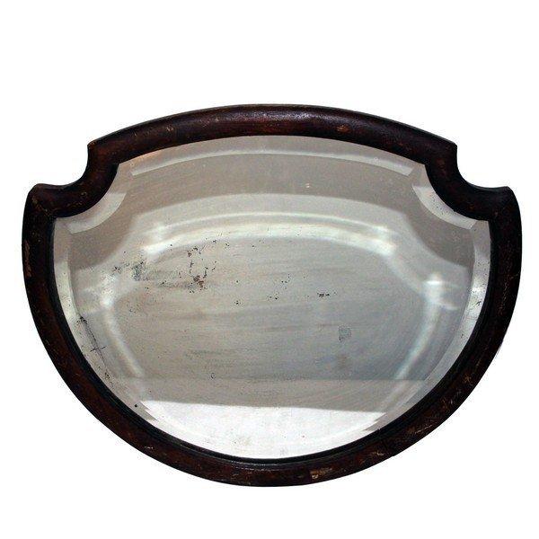 Crest Shaped Bevelled Mirror