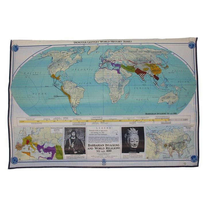 Lot of 16 History Series Map Posters