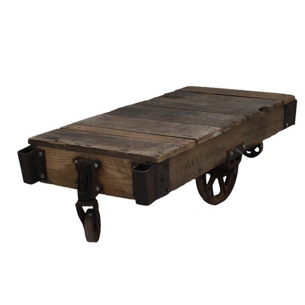 Industrial Railroad Cart / Coffee Table