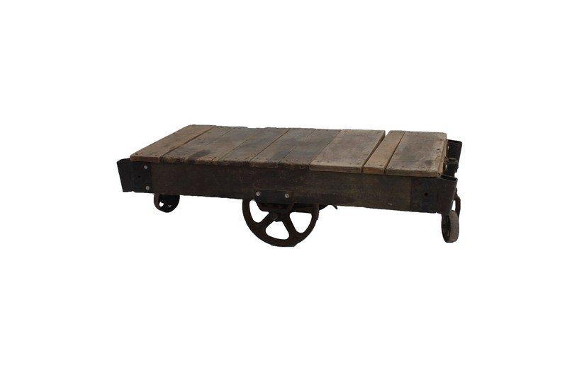 Industrial Railroad Cart / Coffee Table - 2