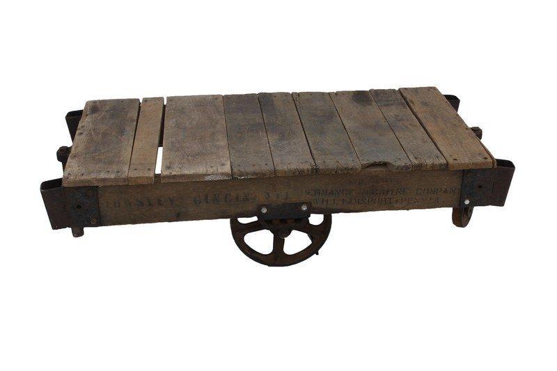 Industrial Railroad Cart / Coffee Table - 3