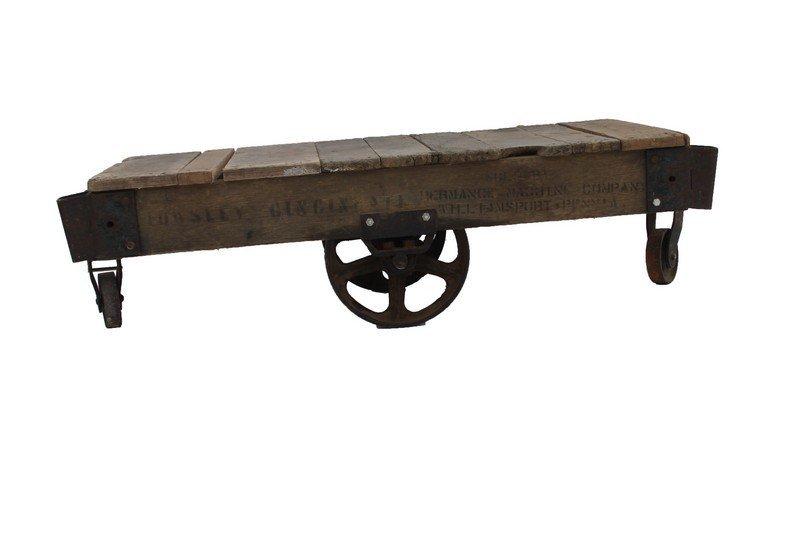 Industrial Railroad Cart / Coffee Table - 4