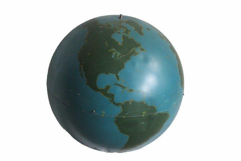 Metal Military Globe