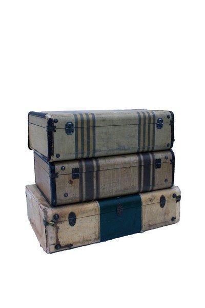 Tan Tweed like Suitcases Lot of 3 - 2