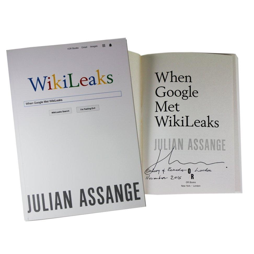 Set of 3 books Signed by Julian Assange