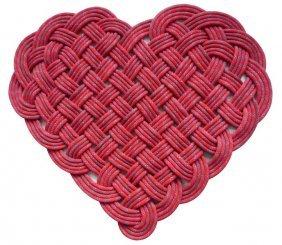 Heart Shaped Door Mat by SerpentSea