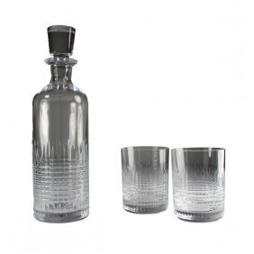 Baccarat Nancy Crystal Tumblers and Decanter