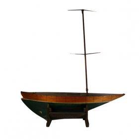 Single Masted Toy Sailboat