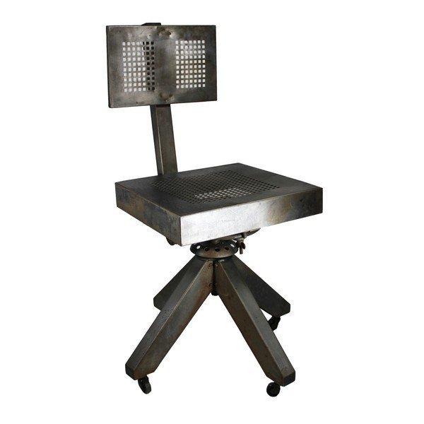 Industrial Metal Desk Chair, 1950's