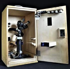 Microscope Carl Zeiss, Jena, Korneal, dans boîte en