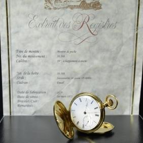 18ct gold savonette pocket watch PATEK PHILIPPE.