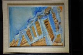 Painting oil on canvas, signed J-J. Gut. 50 x 37cm.