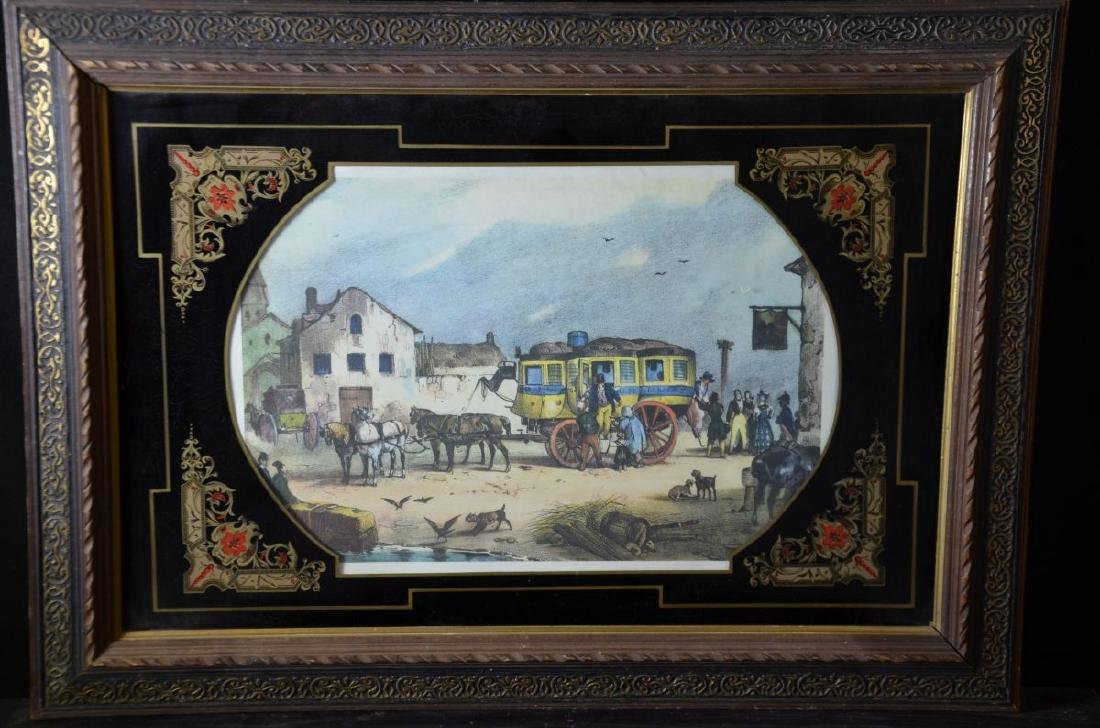 Lithography under glass Carriage ride. 35 x 52cm.