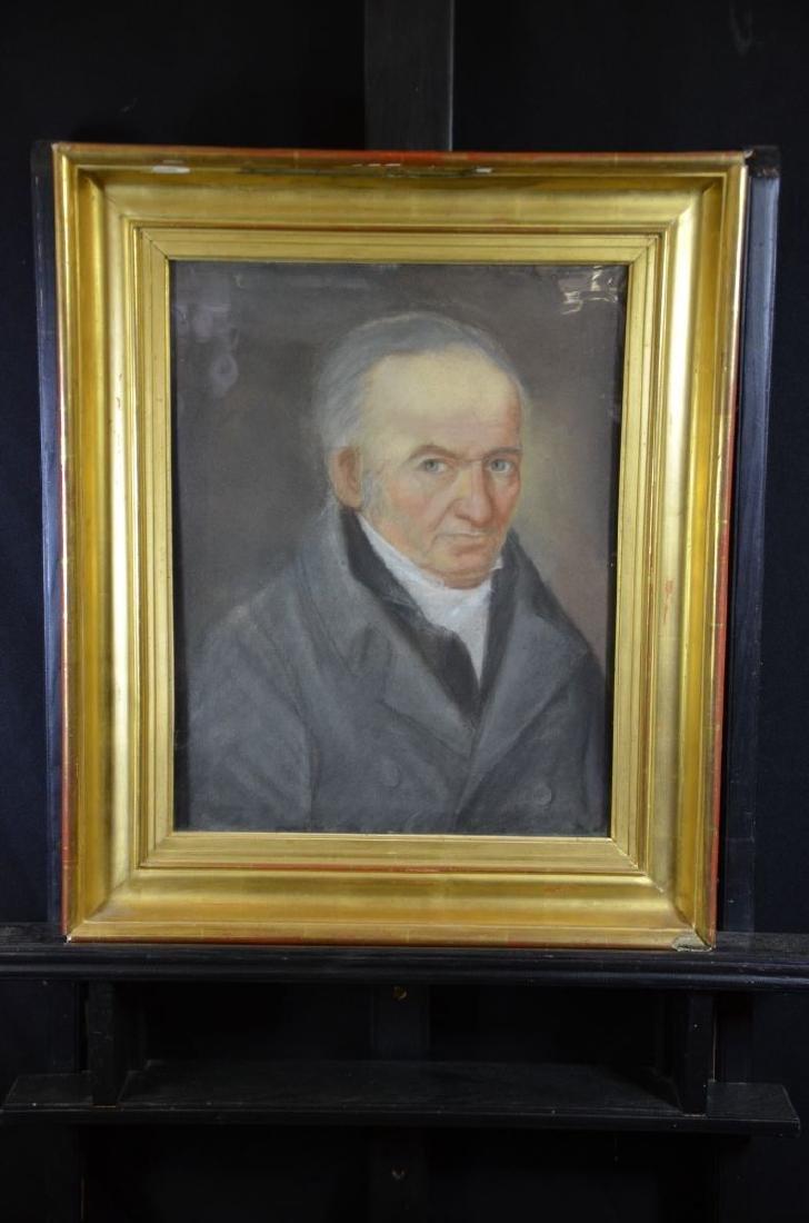 Gouache under glass Men's portrait Ca. 1850. Original