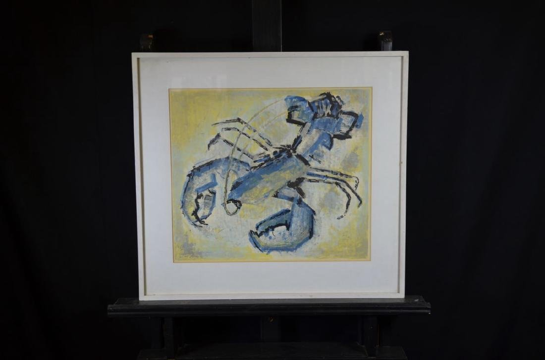 Lithography Lobster, not signed. 43 x 48cm.