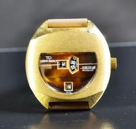 Automatic digital wristwatch TENOR DORLY, gilded. With