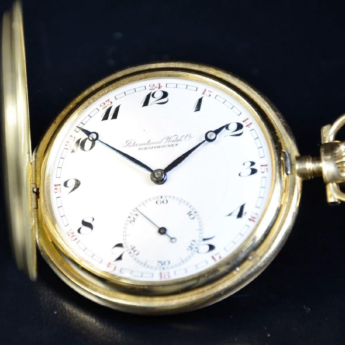 14ct gold pocket watch IWC . Very good condition.