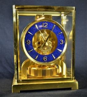 Pendule ATMOS Jaeger-Lecoultre. Cadran en lapis-lazuli.