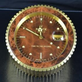 Office desk clock ROLEX, calendar. Seconds in the