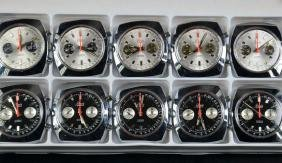 10 wristwatches Chronograph without watch strap.