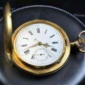 18ct gold savonette pocket watch. Quarter-hour