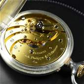 Silver and gold pocket watch PATEK PHILIPPE Enameled