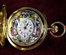 Very nice Savonette pocket watch in 18ct gold. JACQUES