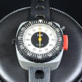 Wristband stopwatch HEUER with 60 minute counter in the