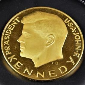 Médaille en or 900, John F. Kennedy (140 g).