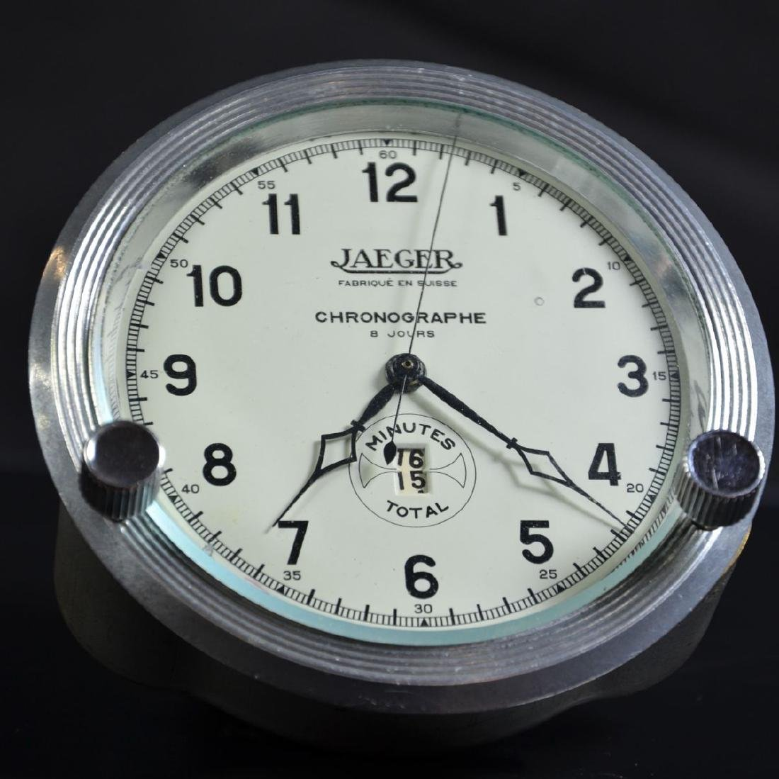 On board chronograph by Jaeger. 8 day mechanism. Very