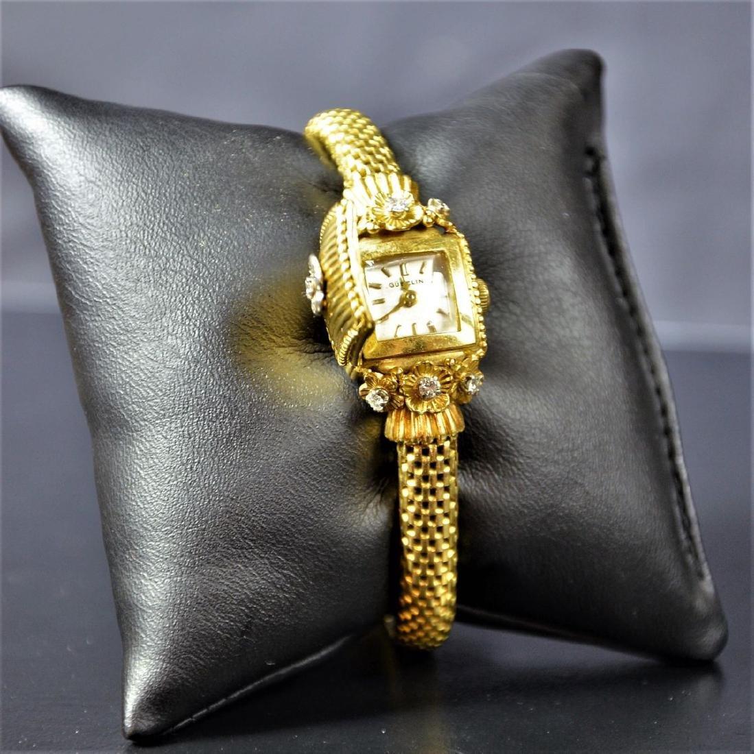 18ct (36 g) gold jewelry watch with diamonds GUBELIN.
