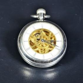 Pocket watch Tourbillon carousel. Duplex escapement