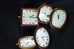 5 table clocks JUVENIA. 8 day mechanism. Very good