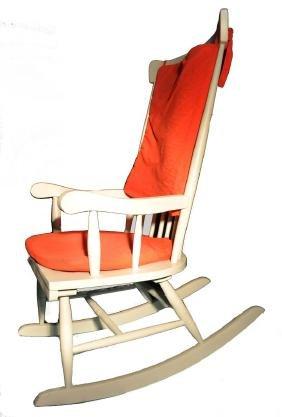 Chaise-balançoire en bois massif.