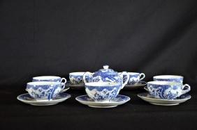 Pièces d'un service à thé japonais composé d'un sucrier