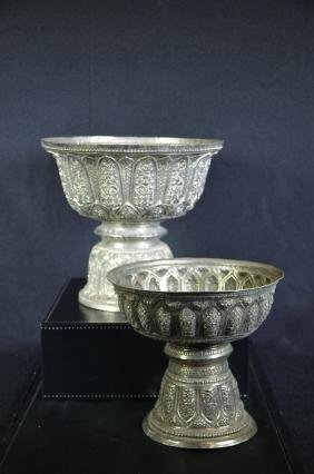 2 silver chalices
