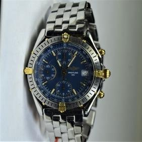 BREITLING bicolor wristwatch. Automatic
