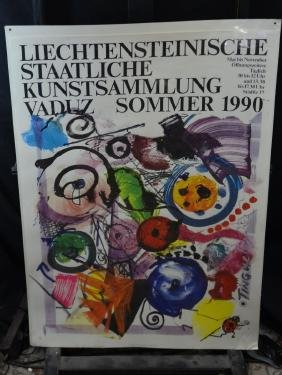 Poster for Tinguely-exhibition in Vaduz, summer 1990.