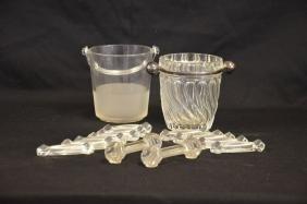 Ensemble de divers objets en verre et cristal.