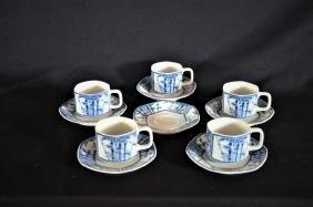 Service à thé de forme octogonale, chinois, composé de